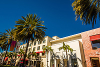 Rodeo Drive, luxury shopping street), Beverly Hills (Los Angeles), California USA.