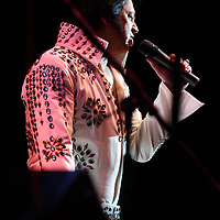 Elvis Tribute Artist Lee Alexander performs in Round One of the Ultimate Elvis Tribute Artist Competition Friday morning at the BancorpSouth Arena.