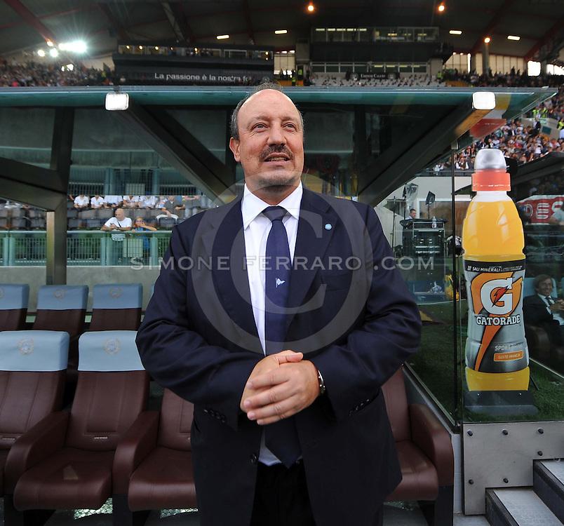 Udine, 21 settembre 2014.<br /> Serie A 2014/2015 3^ giornata. <br /> Stadio Friuli.<br /> Udinese vs Napoli.<br /> Nella foto: Rafael Benitez, allenatore del Napoli.<br /> Copyright foto Petrussi / Ferraro Simone