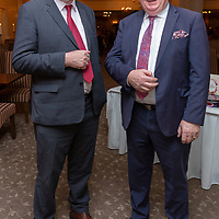 Joe Killeen from Corofin, current President of INTO and Sean McMahon, former President of the INTO at the Clare Limousin Breeders Annual Dinner Dance at the Bellbrige Hotel, Spanish Point on Saturday night