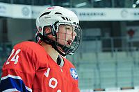 BILDET INNGÅR IKEK I FASTAVTALER. ALL NEDLASTING BLIR FAKTURERT.<br /> <br /> Ishockey<br /> VM kvinner<br /> Norge<br /> Foto: imago/Digitalsport<br /> NORWAY ONLY<br /> <br /> DK, IIHF WW DivIA 2016, Norwegen (NOR) vs Slowakei (SVK) 31.03.2016, Gigantium Arena, Aalborg, DK, IIHF WW DivIA 2016, Norwegen (NOR) vs Slowakei (SVK), im Bild Mathea FISCHER ( 24, NOR)