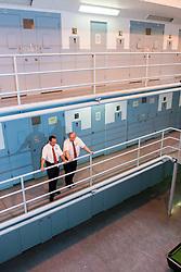 Prison officer on landing
