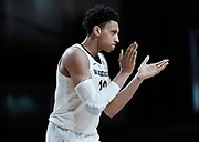 Vanderbilt Commodores forward Matthew Moyer (13) claps his hands as time runs out during an NCAA game between the Louisiana State University Tigers and Vanderbilt Commodores at Memorial Gymnasium in Nashville, TN