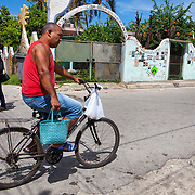 Jose Rodriguez Fuster has decorated his house, studio and town of Jaimanitas with murals and paintings. This world renown artist known was Fuster lives in this small town just west of Havana.<br /> Photography by Jose More