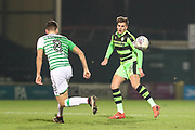 Forest Green Rovers Charlie Cooper(15) on the ball during the EFL Trophy 3rd round match between Yeovil Town and Forest Green Rovers at Huish Park, Yeovil, England on 9 January 2018. Photo by Shane Healey.
