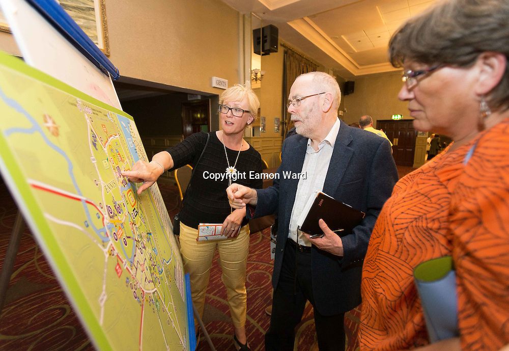 Micheál Ó Riabhaigh  Chairman answering questions at the Ennis map during the Fleadh  Cheoil na hÉireann Inis 2016 information evening at Treacy's West County Hotel on Thursday evening. Photograph by Eamon Ward