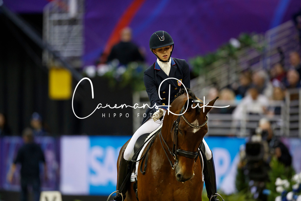 Graves Laura, USA, Verdades<br /> Grand Prix Freestyle<br /> FEI World Cup Dressage Final, Omaha 2017 <br /> © Hippo Foto - Dirk Caremans<br /> 01/04/2017