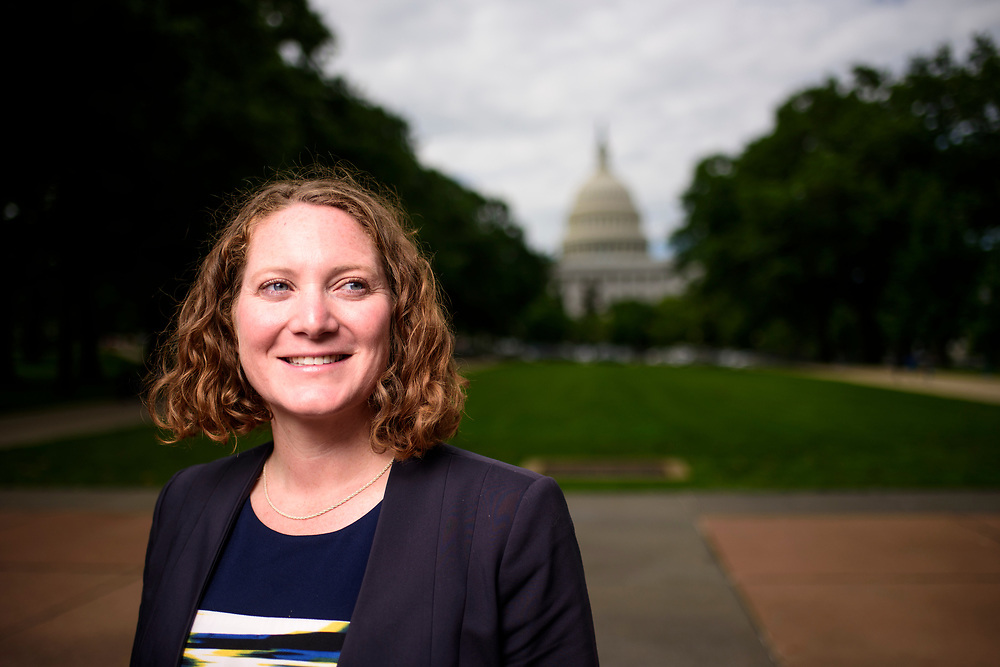Washington, D.C. - May 26, 2017: Earthjustice lobbyist Jessica Ennis at the U.S. Capitol Friday May 26, 2017. Jessica helped persuade Senators -- including two Republicans -- to defeat a Senate procedural vote, May 10, 2017, intending to nullifying the Bureau of Land Management&rsquo;s Methane Waste Rule. The 51-49 vote prevented a Congressional Review Act resolution, which allows Congress to roll back new rules created by federal agencies, <br /> <br /> CREDIT: Matt Roth for Earthjustice