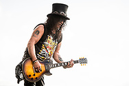 Slash performing on stage during the 2019 Copenhell Rock Festival<br />