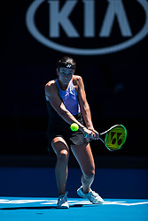 January 21, 2019 - Melbourne, VIC, U.S. - MELBOURNE, VIC - JANUARY 21: ANASTASIJA SEVASTOVA (LAT) during day eight match of the 2019 Australian Open on January 21, 2019 at Melbourne Park Tennis Centre Melbourne, Australia (Photo by Chaz Niell/Icon Sportswire (Credit Image: © Chaz Niell/Icon SMI via ZUMA Press)