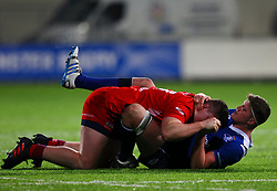 Jack Aungier of Leinster and Jack Cosgrove of Bristol United in action - Mandatory by-line: Ken Sutton/JMP - 15/12/2017 - RUGBY - Donnybrook Stadium - Dublin,  - Leinster 'A' v Bristol United -