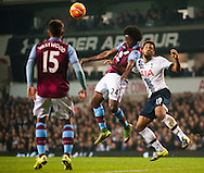 Carlos Sanchez of Aston Villa and Mousa Dembele of Tottenham Hotspur  during the Barclays Premier League match at White Hart Lane, London<br /> Picture by Jack Megaw/Focus Images Ltd +44 7481 764811<br /> 02/11/2015