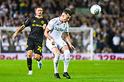 Leeds United midfielder Jack Harrison (22) heads during the EFL Sky Bet Championship match between Leeds United and Brentford at Elland Road, Leeds, England on 21 August 2019.