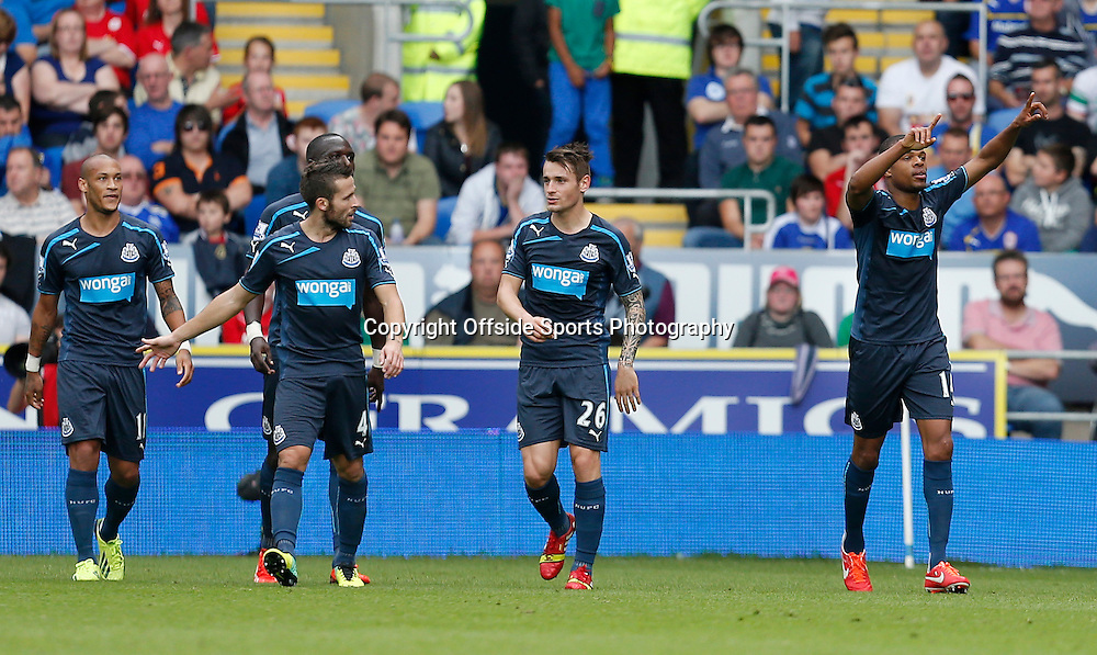 5th October 2013- Barclays Premier League - Cardiff City Vs Newcastle United - Loic Remy of Newcastle United celebrates his opening goal for Newcastle (0-1) - Photo: Paul Roberts / Offside.