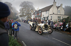 © Licensed to London News Pictures. 01/11/2015. Staplefield, UK. A 1903 Mercedes motors through Staplefield during the London to Brighton Veteran Car Run.  Photo credit: Peter Macdiarmid/LNP