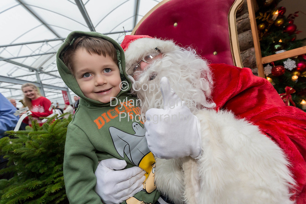 Repro Free no charge for repro<br /> 29-11-14<br /> Jay Kavanagh aged 4 from Garryhill in Carlow pictured with Santa Claus at the Arboretum &quot; Your Home and Garden Heaven&quot; in Carlow over the weekend.<br /> <br /> <br />  Picture Dylan Vaughan.