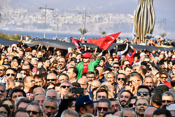 November 10, 2018 - °Zmir, Türkiye - Turkish people attends a respect walk For Mustafa Kemal Ataturk, founder of Turkey in the morning in Izmir, Turkey, Nov. 10, 2018. Millions join ceremonies in Turkey to commemorate Ataturk, the founder of modern Turkey,  in his 80th death anniversary. (Credit Image: © Depo Photos via ZUMA Wire)