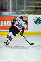 KELOWNA, BC - FEBRUARY 12: Kyle Topping #24 of the Kelowna Rockets warms up on the ice against the Tri-City Americans at Prospera Place on February 8, 2020 in Kelowna, Canada. (Photo by Marissa Baecker/Shoot the Breeze)