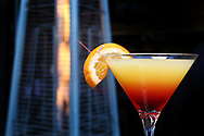 BRENDAN FITTERER  |  VISIT FLORIDA<br /> The Tequila Sunrise Martini at Mattison's City Grille downtown Sarasota, 1 North Lemon Ave Sarasota, FL 34236.