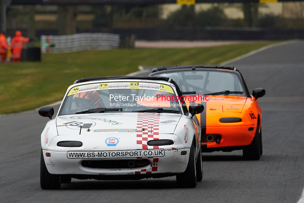 #18 James HOLDER Mazda MX5 Mk1 1600 during Max 5 Championship as part of the BARC NW - Championship Raceday  at Oulton Park, Little Budworth, Cheshire, United Kingdom. March 19 2016. World Copyright Peter Taylor/PSP. Copy of publication required for printed pictures.  Every used picture is fee-liable. http://archive.petertaylor-photographic.co.uk