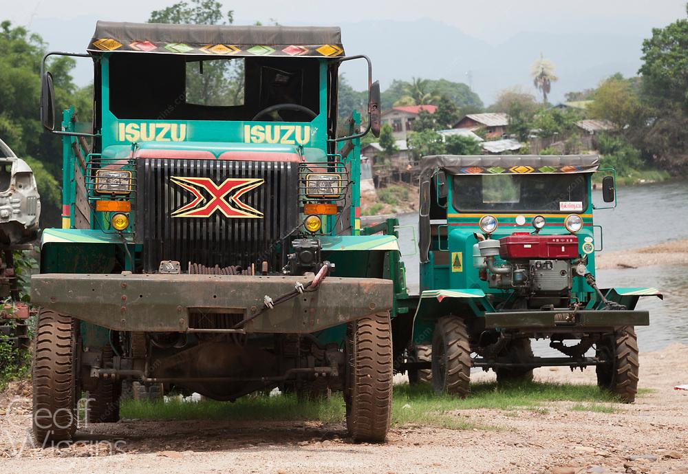 Chinese manufactured cargo truck. Pyin O Lwin, Myanmar
