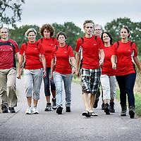 Nederland, Purmerend , 10 september 2012..werknemers van het Waterlandziekenhuis en deelnemers aan de Dam tot Damloop tijdens een training..Foto:Jean-Pierre Jans
