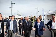 06 Maggio 2017, Salerno - Vincenzo De Luca, Presidente Regione Campania, Agostino Gallozzi, Presidente Marina d'Arechie e Gruppo Gallozzi. Seconda Edizione Salerno Boat Show, Marina d'Arechi.
