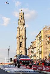 May 18, 2018 - Matosinhos, Matosinhos, Portugal - MADS OSTBERG (NOR) and TORSTEIN ERIKSEN (NOR) in CITROEN C3 WRC of CITROEN TOTAL ABU DHABI WRT in action during the SS8 Porto Street Stage 1 of WRC Vodafone Rally de Portugal 2018, at Matosinhos in Portugal on May 18, 2018. (Credit Image: © Dpi/NurPhoto via ZUMA Press)
