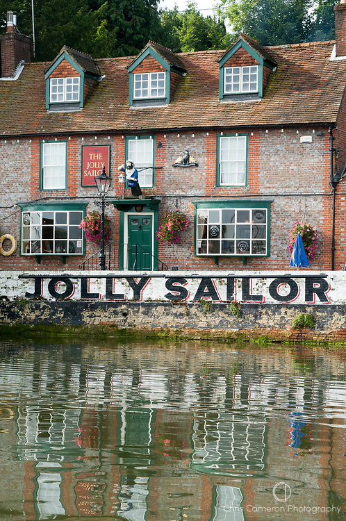 The Jolly Sailor Pub on the River Hamble. United Kingdom.