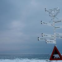 Spitsbergen road sign