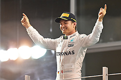 Weltmeister 2016, 2. Platz im Rennen, Nico Rosberg (GER#6), Mercedes AMG Petronas Formula One Team beim Rennen im Rahmen des Grand Prix von Abu Dhabi auf dem Yas Marina Circuit / 271116<br /> <br /> ***Abu Dhabi Formula One Grand Prix on November 27th, 2016 in Abu Dhabi, United Arab Emirates - Race Day ***