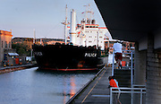 St. Lawrence, nws, lynn, 3.-The tanker ship Pilica pulls into lock number 3 of the Welland Canal outside of St. Catherine's Ontario Friday August 5, 2005.  Pilica was headed downbound toward Lake Ontario.
