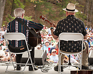 Doc Watson and David Holt playing at   2008 Merlefest in Wilkesboro NC