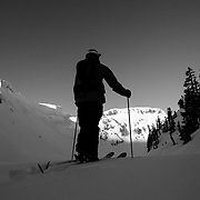 Mark Kogelmann heads into the backcountry near Mount Baker Ski Area.