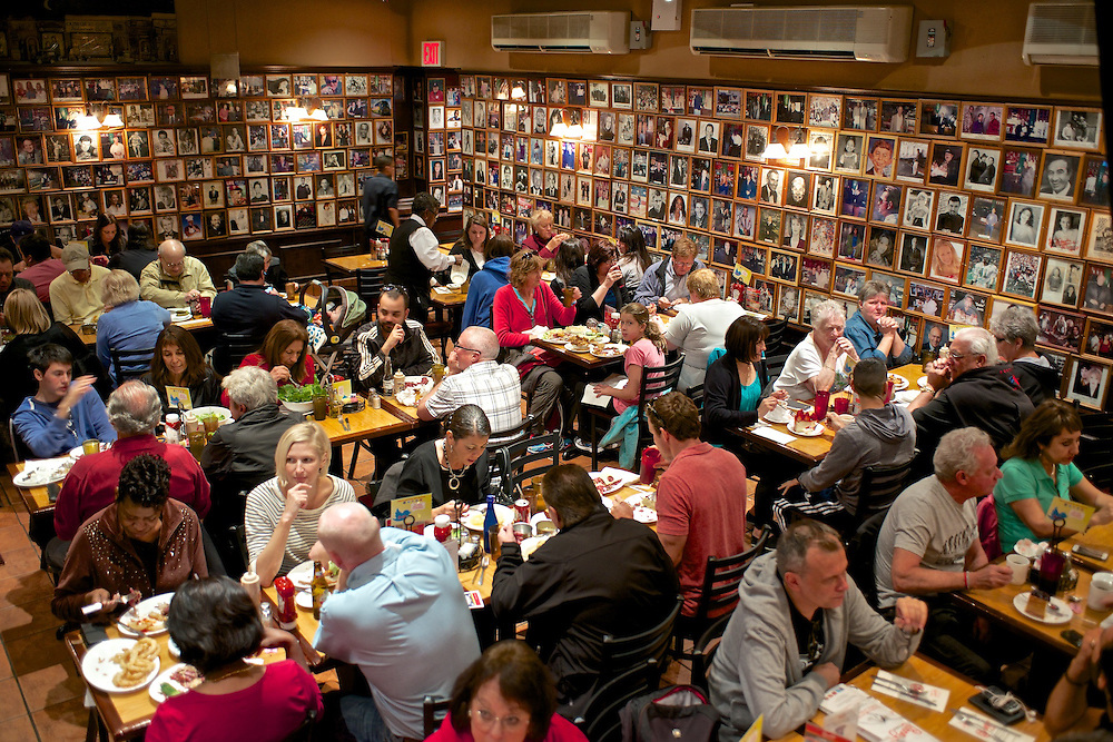 Carnegie Deli's Customers in Back Dining Room