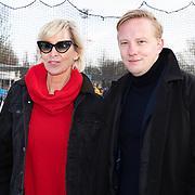 NLD/Amsterdam/20200206 - Kick-off De Hollandse 100 2020, Monique des Bouvrie en zoon Jan des Bouvrie jr.