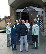London, Great Britain.  Simon HARRIS, Umpire, briefs Coaches and Coxes, from London RC and Cambridge Goldie, CUBC,  prior to Pre Boat race fixture over the Championship Course  River Thames.   on Saturday  12/03/2011 [Mandatory Credit; Karon Phillips/Intersport Images]..