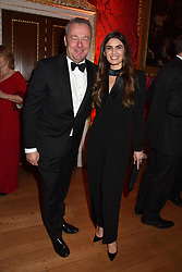 David Yarrow and Joanne Salley at the Tusk Ball at Kensington Palace, London, England. 09 May 2019.