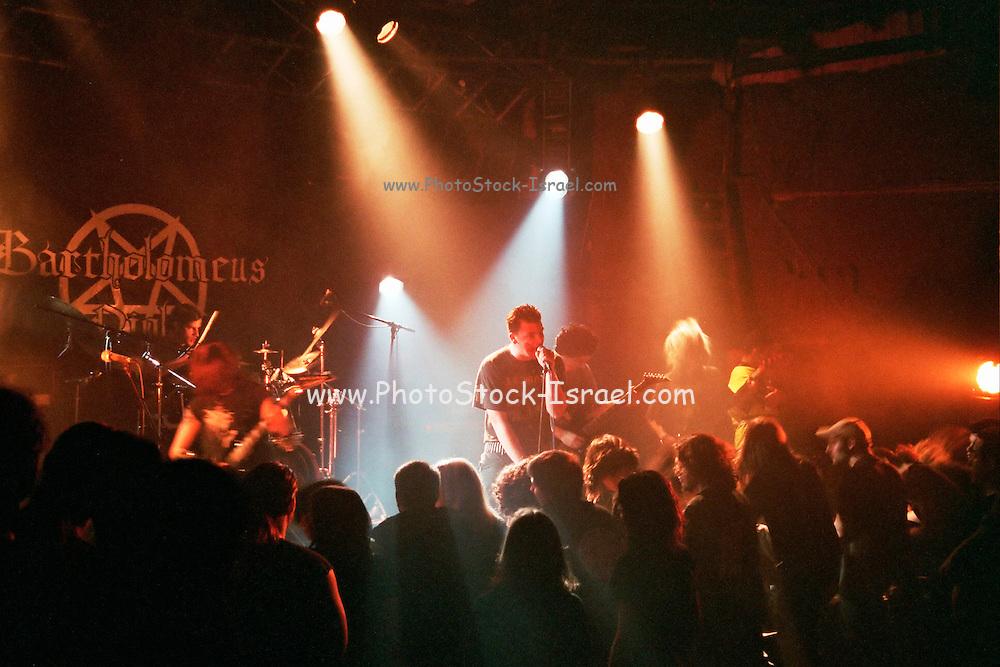 Israel, Tel Aviv, Bartholomeus band during a Heavy Metal rock performance