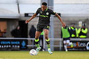 Forest Green Rovers midfielder Ebou Adams (14) looks to release the ball  during the EFL Sky Bet League 2 match between Northampton Town and Forest Green Rovers at the PTS Academy Stadium, Northampton, England on 14 December 2019.