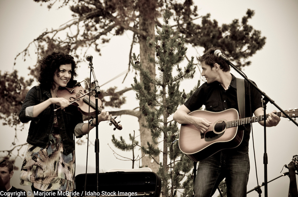 Carrie Rodriguez Band live at Red Fish Lake Lodge during summer in Stanley, Idaho.