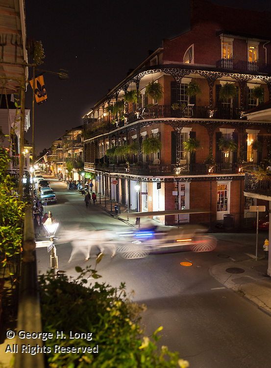 French Quarter intersection with horse and buggy; Movable feast; Long Island Young Presidents' Organization