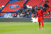 Serge Aurier (psg) at warm up during the French championship Ligue 1 football match between Paris Saint-Germain (PSG) and Bastia on May 6, 2017 at Parc des Princes Stadium in Paris, France - Photo Stephane Allaman / ProSportsImages / DPPI