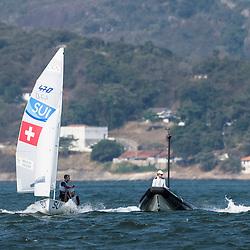 Brazil Rio de Janeiro 18. August 2016 Marina di Gloria, Rio 2016 Olympic Games, <br /> Medal Race 470 M & W 49er & 49erFX<br /> <br /> ©Juerg Kaufmann go4image.com