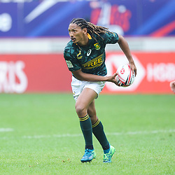 Justin Geduld of South Africa during match between South Africa and Scotland at the HSBC Paris Sevens, stage of the Rugby Sevens World Series at Stade Jean Bouin on June 9, 2018 in Paris, France. (Photo by Sandra Ruhaut/Icon Sport)