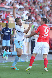 20.07.2013, Coface Arena, Mainz, GER, Testspiel, 1. FSV Mainz 05 vs West Ham United, im Bild Joe Cole (West Ham United WHUFC) im Zweikampf mit Zdenek Pospech (Mainz),,  // during the Friendly Match between 1. FSV Mainz 05 and West Ham United at the Coface Arena, Mainz, Germany on 2013/07/20. EXPA Pictures © 2013, PhotoCredit: EXPA/ Eibner/ Bildpressehaus<br /> <br /> ***** ATTENTION - OUT OF GER *****