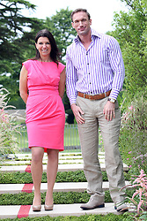Dr Christian Jessen and Dr Dawn Harper from Channel 4's Embarrassing Bodies  at the preview day of the RHS Hampton Court Palace flower show , Monday, 2nd July 2012.  Photo by: Stephen Lock / i-Images
