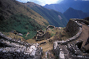 Puyutpatamarca Incan ruins, along the Inca Trail, Cuzco department, Peru