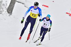 SHYSHKOVA Oksana Guide: KAZAKOV Vitaliy, UKR, B2 at the 2018 ParaNordic World Cup Vuokatti in Finland