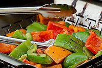 Barbecued Vegetables on a Grill